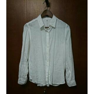 ムジルシリョウヒン(MUJI (無印良品))の無印良品 リネン 麻 シャツ white M(シャツ/ブラウス(長袖/七分))