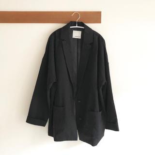 ツインルーム 新品未使用 ビックシルエットジャケット 黒 ブラック