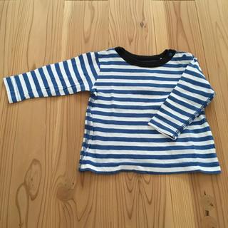 マーキーズ(MARKEY'S)のMARKEY'S ボーダーロンT 長袖 80cm 青×白(Tシャツ)