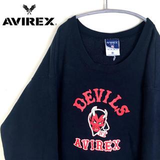 アヴィレックス(AVIREX)のUSA古着 アヴィレックス NYDEVILS スウェット トレーナー メンズ(スウェット)