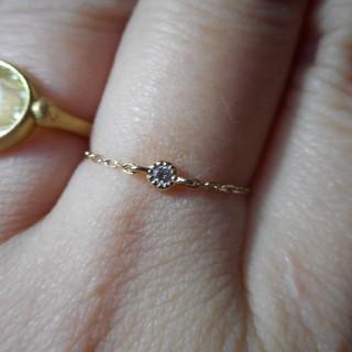 エテ(ete)のeteダイヤモンドチェーンリング10K(リング(指輪))