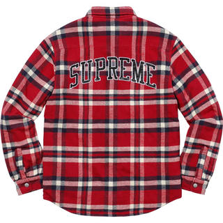 Supreme - S Supreme Quilted Arc Logo Flannel Shirt