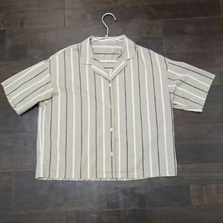 ジーユー(GU)のGU ストライプ  開襟シャツ(シャツ/ブラウス(半袖/袖なし))