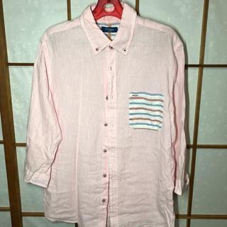 ネイビープロデュース(Navy produce)のピンクシャツ 七部袖(Tシャツ(長袖/七分))