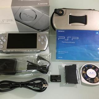 プレイステーションポータブル(PlayStation Portable)の美品 PSP-3000 ミスティックシルバー(携帯用ゲーム本体)