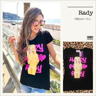 Rady - Rady♡ハッピーピンクちゃんTシャツ