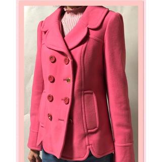 ドーリーガールバイアナスイ(DOLLY GIRL BY ANNA SUI)のDOLLY GIRLのピンクのPコート サイズ1(ピーコート)