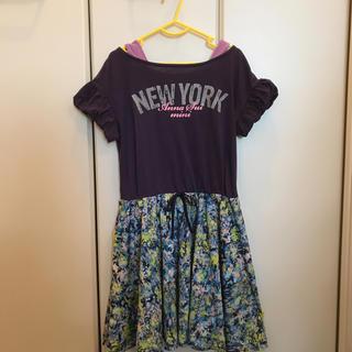 アナスイミニ(ANNA SUI mini)のアナスイミニ ワンピース 130cm 紫&青系 ANNA SUI mini(ワンピース)