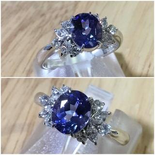 ryand様 専用 タンザナイト&ダイヤモンドリング 指輪18号 簡易鑑別付き(リング(指輪))