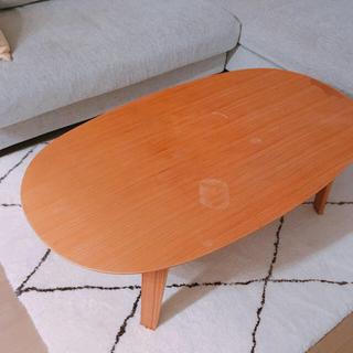 MUJI (無印良品) - 【無印良品】ローテーブル/丸テーブル