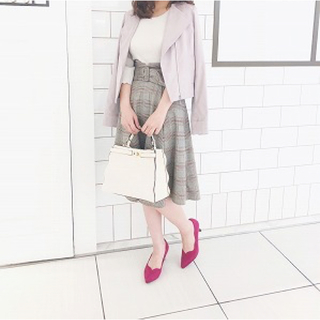 PROPORTION BODY DRESSING - ♡チェックフレアスカート♡