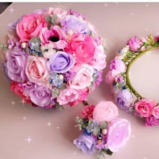 結婚式造花ブーケブートニア