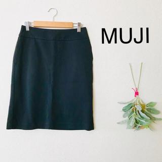 ムジルシリョウヒン(MUJI (無印良品))の無印良品 タイトスカートブラック58(ひざ丈スカート)