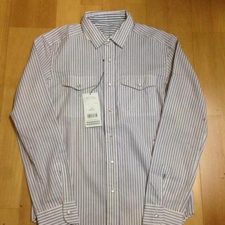 メンズビギ(MEN'S BIGI)の新品タグ付き☆ リバーシブルシャツ ストライプ×ストライプ(シャツ)