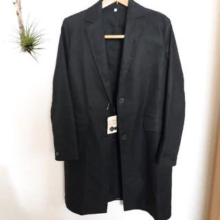 MUJI (無印良品) - 無印良品 チェスターコート 黒 L 新品未使用