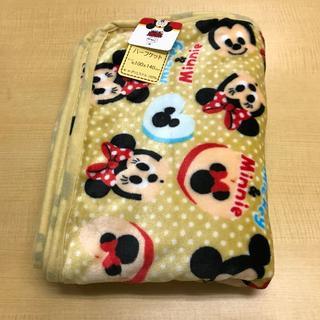 ディズニー(Disney)の【新品・送料無料】ミッキー&ミニー ベージュ ハーフケット 約100×140cm(毛布)