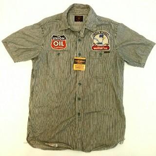 トイズマッコイ(TOYS McCOY)のトイズマッコイ  ロードランナー  半袖ワークシャツ ヒッコリーストライプ M(シャツ)