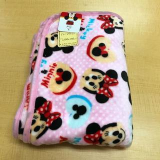 ディズニー(Disney)の【新品・送料無料】ミッキー&ミニー ピンク ハーフケット 約100×140cm(毛布)