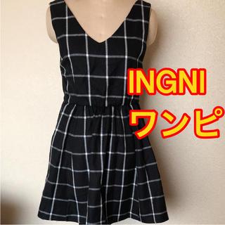 イング(INGNI)の⭐️新品❤️INGNI❤️チェックワンピ❤️送料こみ(ひざ丈ワンピース)