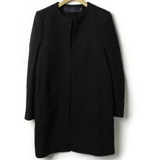 ザラ(ZARA)のZARA 黒 コート 襟なし M(ロングコート)