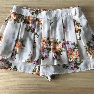 シマムラ(しまむら)の花柄 キュロット ショートパンツ  スカート(キュロット)
