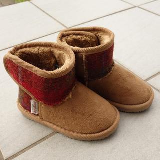 シマムラ(しまむら)のハリスツィード ブーツ しまむら15センチ(ブーツ)