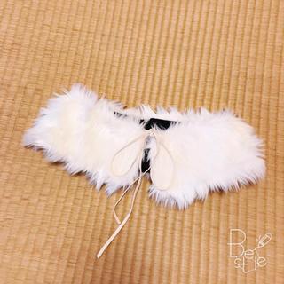 イング(INGNI)の白のファー つけ襟(つけ襟)