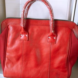 ハーヴェストレーベル(HARVEST LABEL)のHARVEST LABEL 本革鞄 赤 新品未使用(ハンドバッグ)