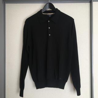 バーバリー(BURBERRY)のBurberry london ニット ポロシャツ イタリア製 長袖(ポロシャツ)