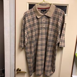 バーバリー(BURBERRY)のバーバリー メンズ ポロシャツ ベージュチェック L bu91(ポロシャツ)