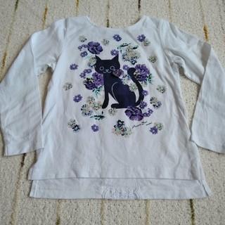 アナスイミニ(ANNA SUI mini)の専用☆アナスイミニ 2018SS 猫カットソー 110 美品(Tシャツ/カットソー)