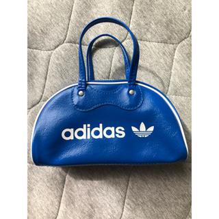 アディダス(adidas)のアディダス オリジナルス  ミニボストン ミニバッグ ポーチ フェイクレザー 青(ポーチ)