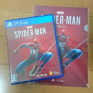 プレイステーション4(PlayStation4)のps4 スパイダーマン 限定クリアファイル付き(家庭用ゲームソフト)