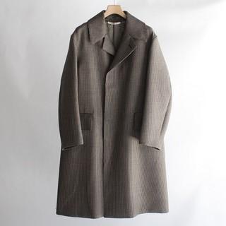 コモリ(COMOLI)の新品 AURALEE DOUBLE FACE CHECK LONG COAT(ステンカラーコート)