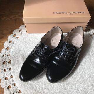 ジュゼ(Juze)のJuze  黒のエナメル靴(ローファー/革靴)