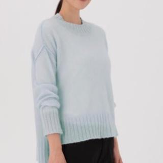 MUJI (無印良品) - 送料込 無印良品 アルパカ混ガーゼ モックネックセーター 未使用 半額!