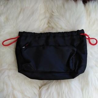 MUJI (無印良品) - バッグインバッグ 黒 巾着