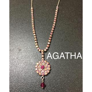 アガタ(AGATHA)のAGATHA アガタ ネックレス ピンク(ネックレス)