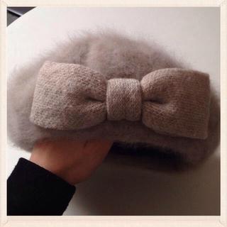 フルラ(Furla)のFURLA アンゴラ ベレー帽 ハット(ハンチング/ベレー帽)