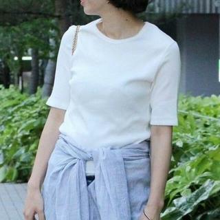 DEUXIEME CLASSE - 【新品】AP STUDIO Rib Tシャツ 白 Deuxieme Classe