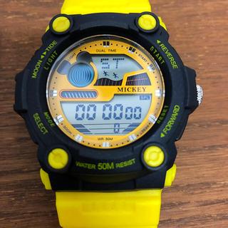 ディズニー(Disney)の腕時計 ディズニー ミッキー イエロー  キッズ (腕時計)