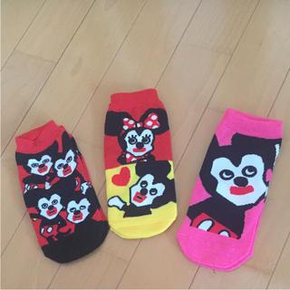 ディズニー(Disney)の新品未使用❗️ミッキー ミニー  靴下(ソックス)