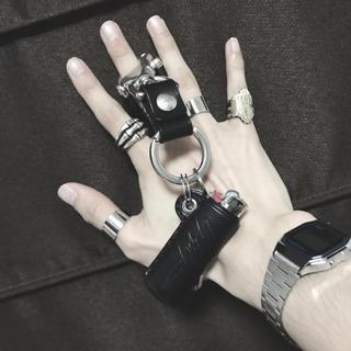 ヨウジヤマモト(Yohji Yamamoto)のヨウジヤマモト ライターケース カラビナ(キーホルダー)