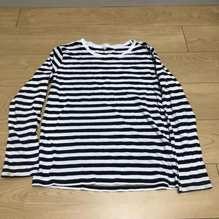 MUJI (無印良品) - 150サイズ MUJI 男女兼用 ボーダーロンT 長袖Tシャツ