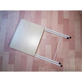 コレ、売れてます♪折りたたみテーブル コンパクトテーブルハイ ナチュラル(その他)