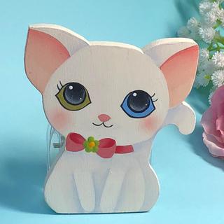 【新作】可愛い マグネット クリップ(大)【白猫】【送料込み】【猫】