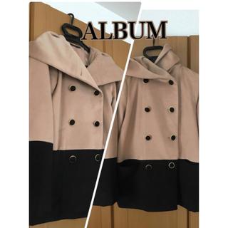 アルブム(ALBUM)のほぼ未使用 美品!ALBUM フードコート キャメル色 ゆったりめのM(ピーコート)