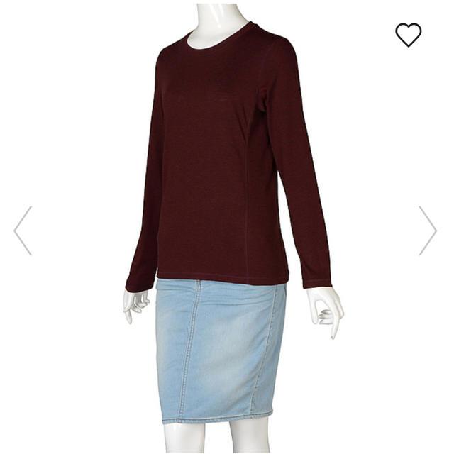 GU(ジーユー)の◻️GU◻️ 美品♪ リブコンビクルーネックT M レディースのトップス(Tシャツ(長袖/七分))の商品写真