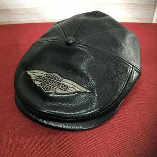 ハーレーダビッドソン(Harley Davidson)のハーレーダビッドソン 本革 ハンチング 帽子 正規品(ハンチング/ベレー帽)