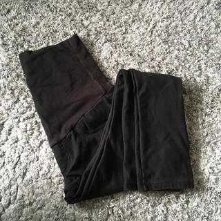 MUJI (無印良品) - 無印良品 マタニティスキニーパンツ 裏起毛 Sサイズ 黒